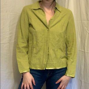 vintage green button up jacket